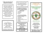 Homelessness and Legal Advocacy Clinic Brochure by Legal Clinic Program