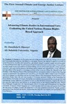 Advancing Climate Justice in International Law: Evaluating the United Nations Human Rights Based Approach by Dr. Damilola S. Olawuyi