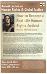 How to Become a Real-Life Human Rights Activist by Provost Marcella David