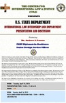 U.S. State Department International Law Internship and Employment Presentation and Discussion