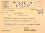 Western Union Telegram to Mr. Virgil D. Hawkins by Registrar