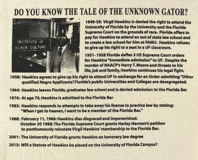 Virgil Darnell Hawkins 1906 - 1988   Florida's Rosa Parks T-shirt